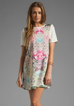 FINDERS KEEPERS You Sent Me T-Shirt Dress in White/Secret Garden Bright at Revolve Clothing - Free Shipping!