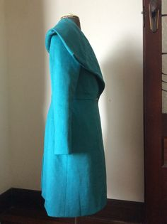 Side, Burda 2014-11-111, in turquoise wool from Gay Naffine, for Winter 2015