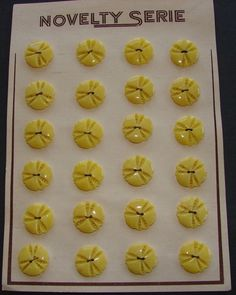 vintage yellow buttons.