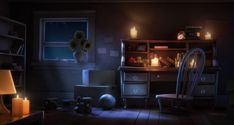 study night 3d lighting interior concept cgsociety background scene cartoon maya bedroom environment animation craig robert older character illustration english