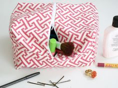 DIY fabric cosmetic bag