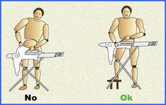 Tareas domésticas como #planchar que debemos realizar correctamente #fisioterapia
