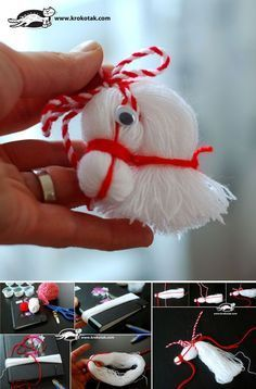 DIY-Pferdekopf-Verzierung vom Thread - My most creative diy and craft list Christmas Ornament Crafts, Christmas Projects, Holiday Crafts, Christmas Crafts, Merry Christmas, Christmas Decorations, Kids Crafts, Crafts To Do, Yarn Crafts