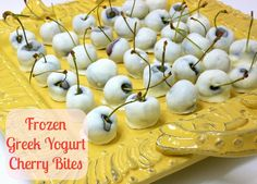 Want to give a gift that's delectable and guilt-free? We love these Frozen Greek Yogurt Cherry Bites – make them, freeze them, deliver them to a friend!