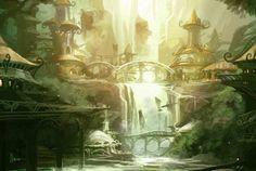 elf elven fantasy elves wood forest