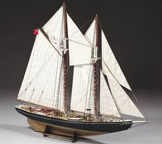 BB576 - #Bluenose  The schooner Bluenose has a very special place in the history of navigation and yachting. Built to fish off the Newfoundland coast.  http://www.castyouranchorhobby.com/ecom-prodshow/576.html