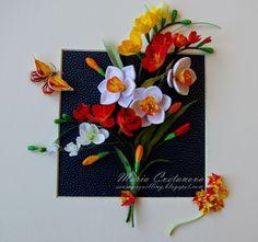 Quilling Seasons: Букет от пролетни цветяSpring flowers bouquet Нар...