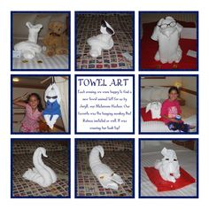 Get a free towel origami lesson: http://FoldingMagic.com   Fun towel folding / towel origami creations.