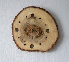 Rustic Wood Slice Wall Clock, Wooden Wall Clock, Cabin Decor, Husband Gift, Rustic Home Decor