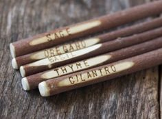 Garden Markers - Blank Plant Stakes for Herbs and Vegetables - Rustic Garden Decor - Wood - Tree Branch