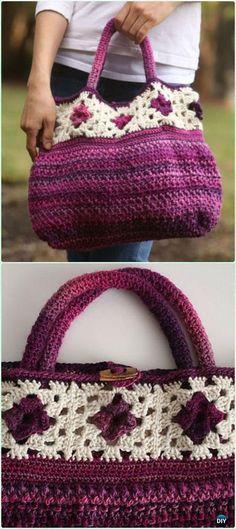 Crochet Bag Crochet Allons-y Bag Free Pattern - Crochet Handbag Free Patterns Instructions - Crochet Handbag Free Patterns Crochet Purse Patterns, Bag Crochet, Crochet Shell Stitch, Crochet Motifs, Crochet Handbags, Crochet Purses, Crochet Clutch, Crochet Crafts, Crochet Clothes