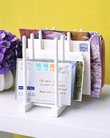 Lid-Rack Mail Sorter | Martha Stewart
