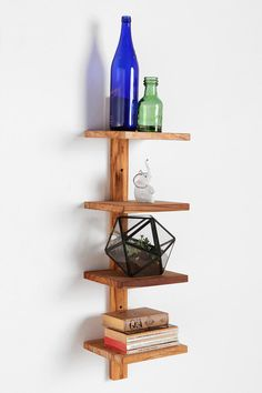 Tiered Teak Shelf  #UrbanOutfitters