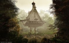 Baba Yaga's hut...   Ch. 36-40 in Pins + Magic - a 'Random Magic' read-a-long. About:  http://pinterest.com/pin/150448443772548801/