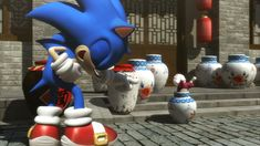 Sonic the Hedgehog and Chip (who is stuck in a vase) - Sonic Unleashed - Sonic and Chip cutscenes - I LOVE Sonic's laugh right here!