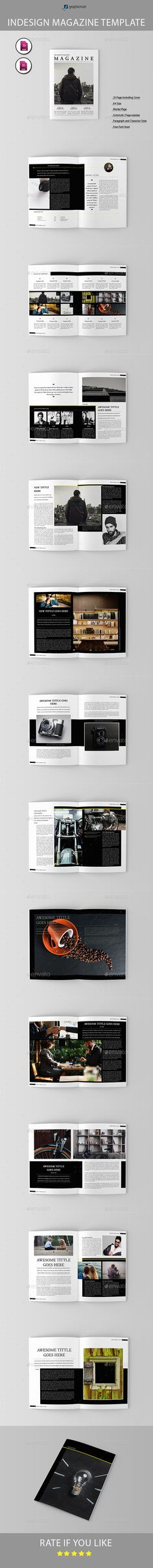 Magazine Template InDesign INDD - 26 Pages