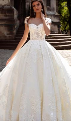 Wedding dress idea; Featured Dress: Crystal Desing