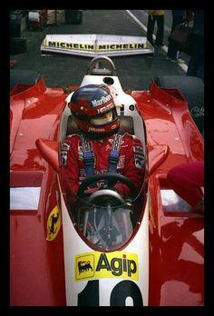 f1 21 de Mayo de 1978-Gran Premio de Bélgica-Zolder-Gilles Villeneuve-Ferrari 312 T3-© Colección Carlos Ghys