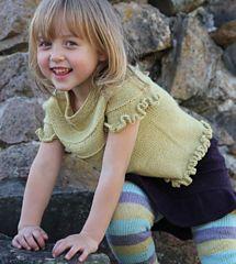 Camisola de menina em tricot com manga curta