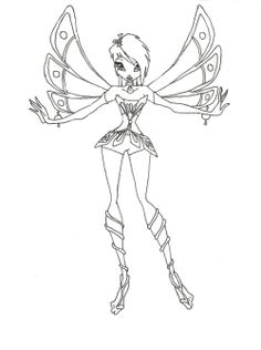 Winx Club Style Short Hair Coloring Pages