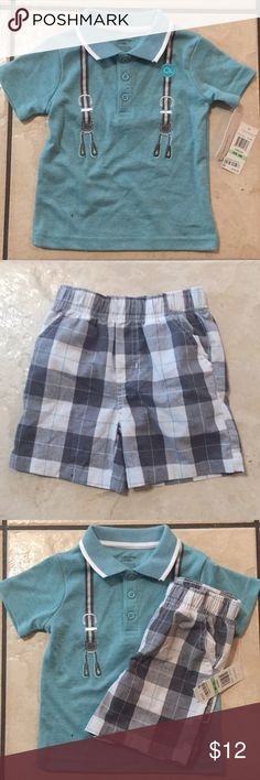 Calvin Klein Polo and Cotton Shorts 18 M Calvin Klein Polo and Cotton Shorts Never used 18 M Calvin Klein Matching Sets