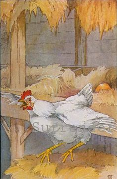 Hen Who Laid Golden Eggs Four Aesop's Tales 1929 Ancient Greek Life Lessons For Childen