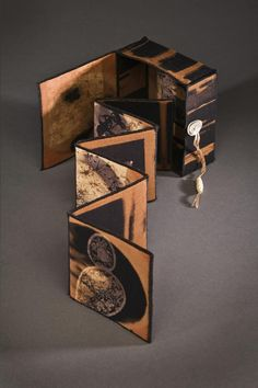 Secrets - Edie Brown book/box Could we do something like this with Millie's boxes? Concertina Book, Accordion Book, Paper Book, Paper Art, Altered Books, Buch Design, Book Sculpture, Book Projects, Envelope Book