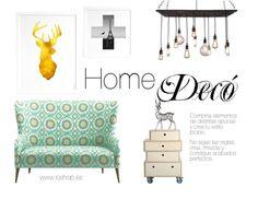 www.ioshop.es #decoración #home #art #arte #dorado #vintage  #ciervo #sofá #lámparas #ioshop