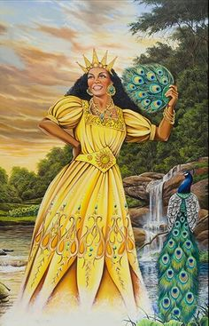 Cachita ,Oshun madre del dulce río  by Jorge Guanche-Garcia