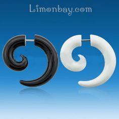 Plug simulado (fake) con forma de espiral. 1 pieza. Ideal para tu dilatación de oreja, aunque tu imaginación es el límite! Parece una dilata pero es un pie, 2.97