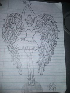 This is a Ballerina Angel I drew last night