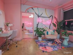 Pink Neon Photo Studio Rental Los Angeles — the urban jungle studio Neon Bedroom, Room Decor Bedroom, Bedroom Rugs, Pink Bedrooms, Bedroom Ideas, My New Room, My Room, Studio Rental, Cute Room Decor