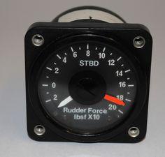 RAF/ Civil Aircraft Rudder Force Indicator STBD Instrument Gauge | eBay