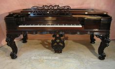 antique pianos chickering | Antique Piano - Chickering Square Grand Piano - Restored Antique ...