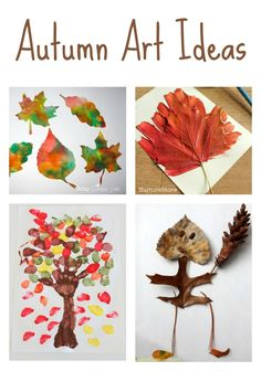 Easy autumn art ideas for children, fall crafts for kids
