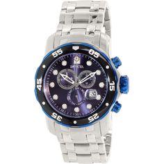 Invicta Men's Pro Diver 80044 Silver Stainless-Steel Swiss Quartz Watch