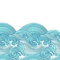 Wave pattern redone - reminds me of earthsea Wave Drawing, Doodle Drawing, Doodle Art, Wave Illustration, Japanese Waves, Wave Art, Wave Pattern, Pattern Art, Surf Art