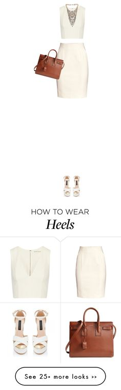 """Untitled #600"" by redx1202 on Polyvore featuring Alice + Olivia, H&M, KAROLINA, Yves Saint Laurent and Tom Binns"