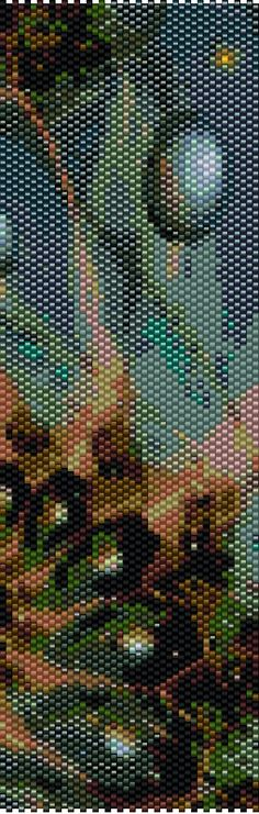 Peyote Pattern  Abstraction 15a