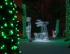 Experience the magic of the Detroit Zoo in winter as you take in the lights and the sights and enjoy holiday entertainment and activities for guests of all ages. Live entertainment, arts and crafts, storytelling, ice carving and a Lego® holiday train display will add to the festivities.  Photo provided by Mark Gaskill Photography.