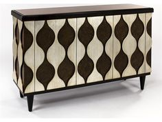 Artmax 56 x 38 Antique Silver Credenza Cabinet with Chocolate Tones