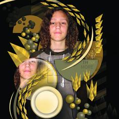 art vector experiment portrait, johnny allison art JGART
