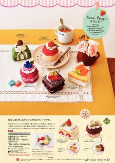 crocheted sweets