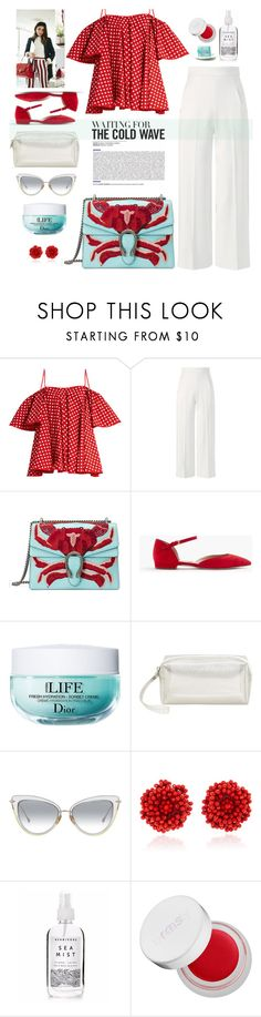 """Cold wave"" by susli4ek ❤ liked on Polyvore featuring Anna October, Roland Mouret, Gucci, J.Crew, Christian Dior, MANGO, Bibi Marini, Holly's House and rms beauty"
