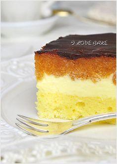 Ciasto ala delicja - przepis - I Love Bake Polish Desserts, Polish Recipes, Just Desserts, Sweet Recipes, Cake Recipes, Dessert Recipes, Kolaci I Torte, Mini Cakes, Queso