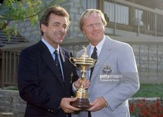 Tony Jacklin (L) the non-playing Captain of the European Team and Jack Nicklaus…