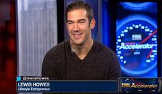Screenshot of TV with Lewis Howes on Fox News