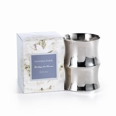 """Vondelpark Scented Candle  Dimensions: 5"""" x 3.5"""" Wax Weight: 284 grams // 10 oz Burn Time: 60 hours   Fragrances (Select from dropdown below)  Claire de Lune - white currant, violet leaf & green fig Duchesse de Nemours - gardenia, white lilac & musk Lady Alexandra - currant blossom, cyclamen & rosewood"""