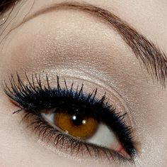 Neutral eye with navy liner
