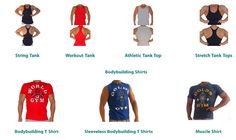 Tank top workout clothes cheap. Golds Gym shirts bodybuilding clothing shipped worldwide. Add a mens tank top or muscle shirt to your workout clothing gym bag. www.bestforminc.com